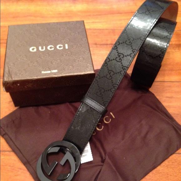 036116f3f85 New Authentic men s Gucci belt Imprime size 100cm