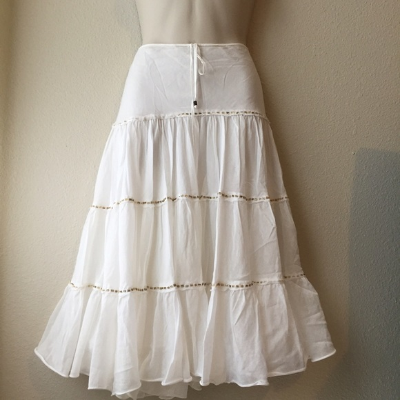 Express - Express White Boho Tiered Skirt from Dawn's closet on ...