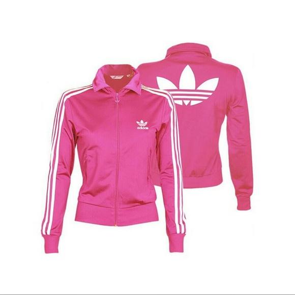 64% off Adidas Jackets & Blazers - Bubblegum Pink ADIDAS Firebird ...