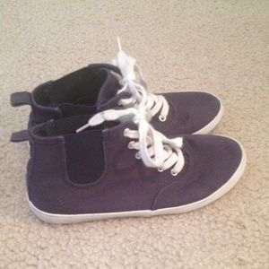 H&M navy blue high top sneakers!