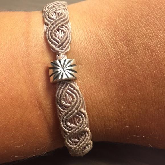 Pandora Pandora Retired Macrame Bracelet With Charm From