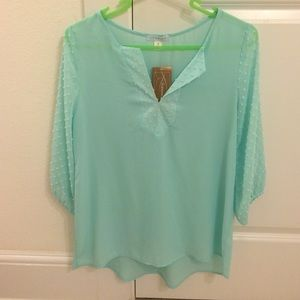 Francesca's Collections Tops - NWT mint blouse