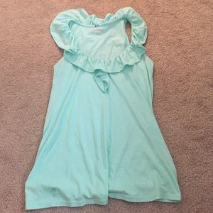 Lilly tank with ruffles