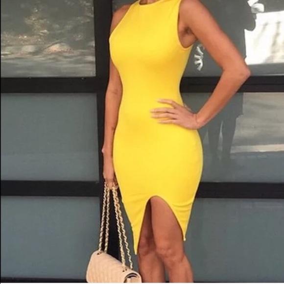 tight yellow dresses