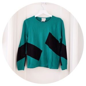 Unique Vintage Colorblock Pullover Sweater
