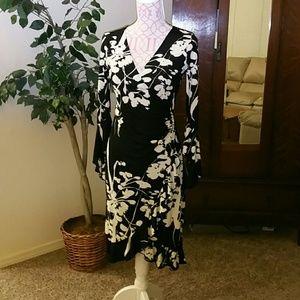 ABS Allen Schwartz Dresses & Skirts - ABS Jersey Knit faux wrap dress Petite