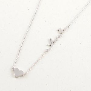 Small gold or silver plated heart/❤️ you necklace