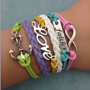 Jewelry - Infinity bracelet Faith love anchor brand new