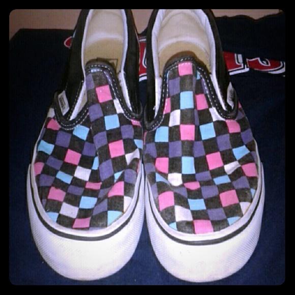 vans checkerboard colors