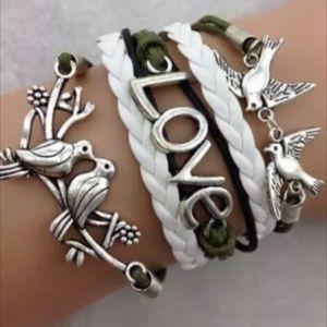 Jewelry - Infinity bracelet Doves love statement brand new