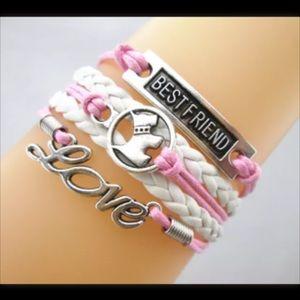 Jewelry - Infinity bracelet dog best friend statement