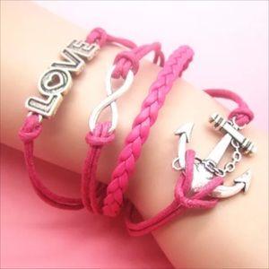 Jewelry - Infinity bracelet love anchor statement