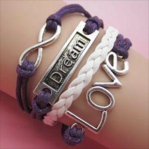 Jewelry - Infinity bracelet dream love  statement