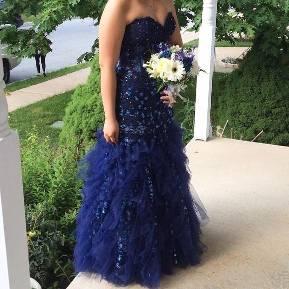 Jovani Dresses   Size6 Navy Blue Prom Dress   Poshmark