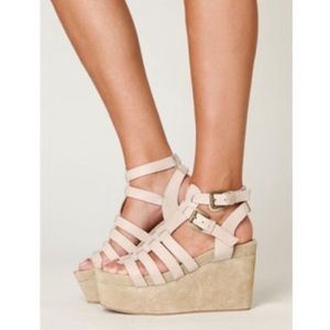 Jeffrey Campbell Shoes - Jeffrey Campbell gladiator wedge platform sandals