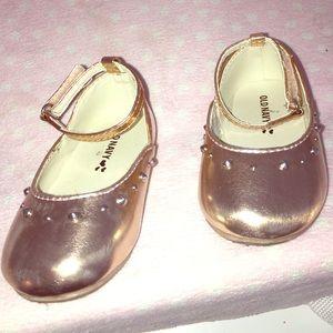 off Old Navy Other Rose Gold Ballet Toddler Shoes