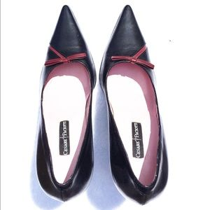 Cesare Paciotti Shoes - Cesare Paciotti Black with Burdundy Detail Pump
