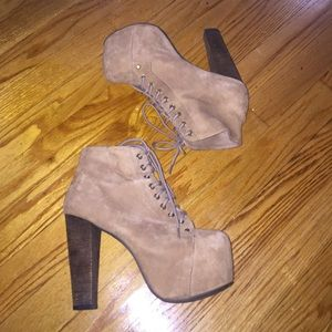 Jeffrey Campbell Shoes - Taupe Suede JEFFERY CAMPBELL Lita boot
