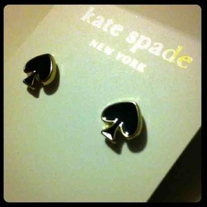 Kate Spade Black Spade Earrings NEW WITH TAGS