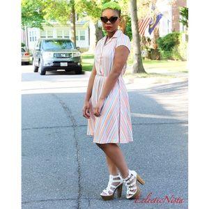 ☀️NEW☀️ Vintage Chevron Stripe Dress