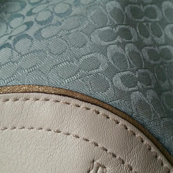Coach Handbags - Coach Signature Baby Blue Bag with Coin Purse 4