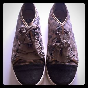  Authentic Lanvin Leopard Print Sneakers