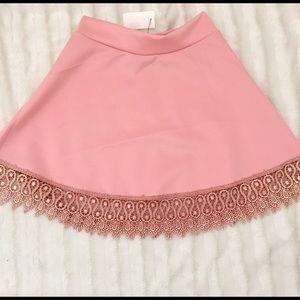 NWT pink flair mini skirt Sz S