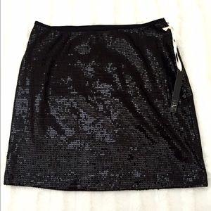 NWT Black sequins mini skirt Sz S