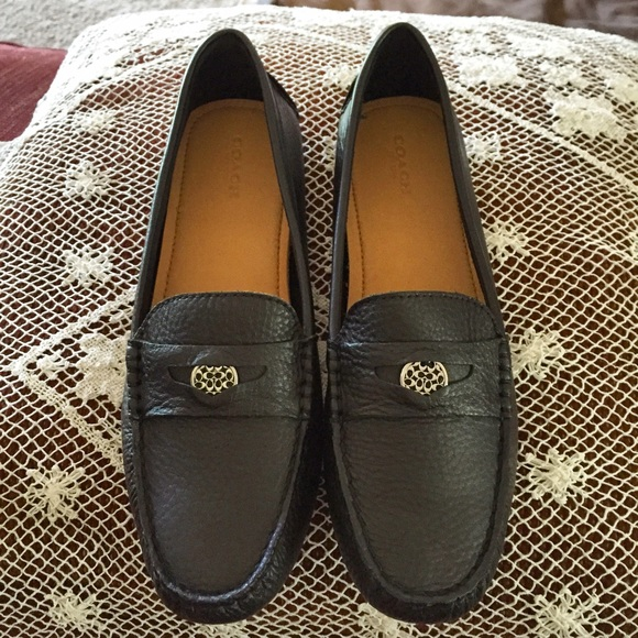 for whole family designer fashion various colors Coach Pebble Grain Leather Driving Loafers BNIB