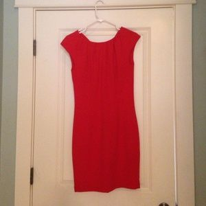 H&M bright orange/coral dress.