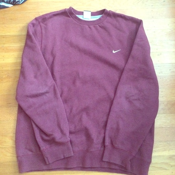 38% off Nike Sweaters - Nike burgundy crew neck sweatshirt from ...