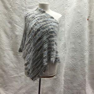Angora knit poncho