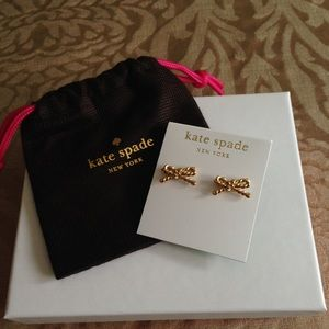 ♠️kate spade gold rope bow earrings♠️
