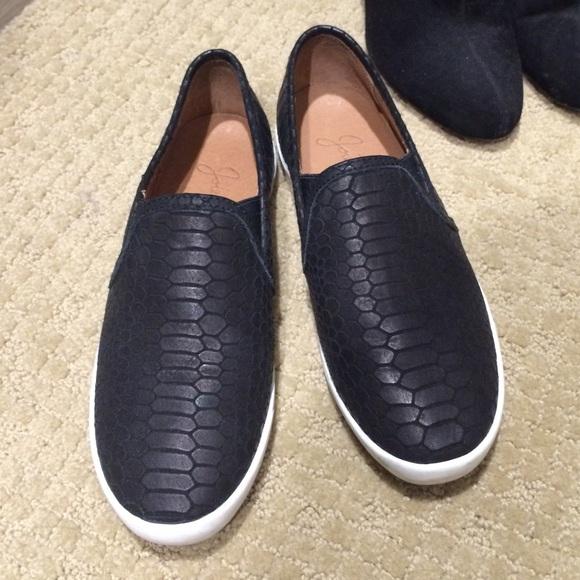 Joie Kidmore Black Python Sneakers Slip