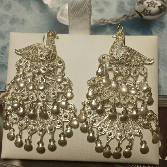 515626b5c Kay Jewelers Jewelry | Filigree Sterling Silver Peacock Earrings ...