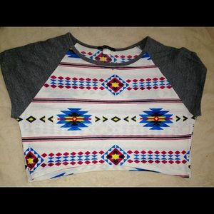 Foreign Exchange Tops - Discontinued native pattern top