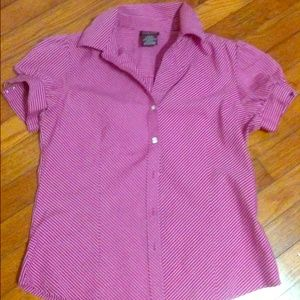 Tops - Striped Shirt Red and White sz 4/6