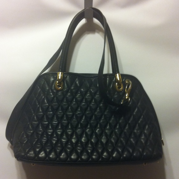 91% off Mario Orlandi Handbags - Marino Orlandi Black Quilted ...