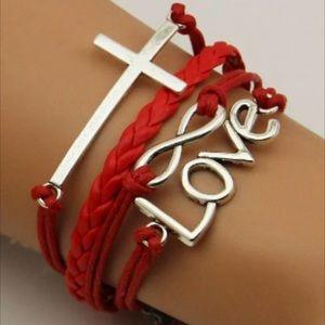 Jewelry - Infinity bracelet cross heart love