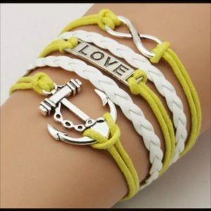 Jewelry - Infinity bracelet anchor heart love