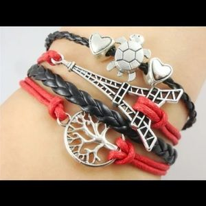 Jewelry - Infinity bracelet Tree of life turtles Eiffel