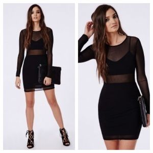 Missguided Dresses & Skirts - Black Mesh Dress
