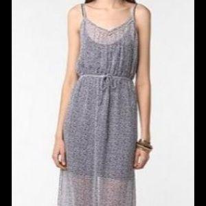 Urban Outfitters Dresses Staring At Stars Chiffon Sheer Maxi Dress