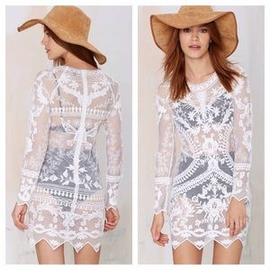 Nasty Gal Dresses & Skirts - White Lace Dress