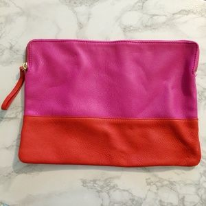 Gap Two-Tone Leather Clutch