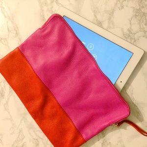 GAP Bags - Gap Two-Tone Leather Clutch