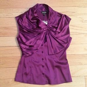 bebe Tops - NWT Bebe Purple Real Silk Blouse