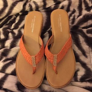 Orange Wedge Sandal