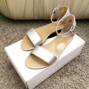 Nine West Shoes - Nine West Silver Sandals size 8