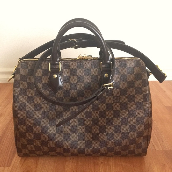 8ff8948e4ebb Louis Vuitton Handbags - LOUIS VUITTON Speedy Bandouliere 30 Damier Ebene